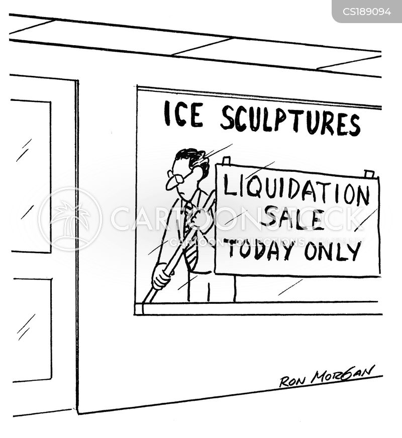 liquidation cartoon