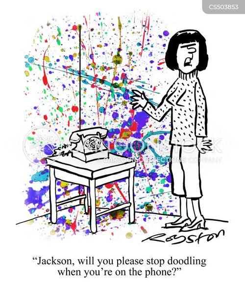 abstract painting cartoon
