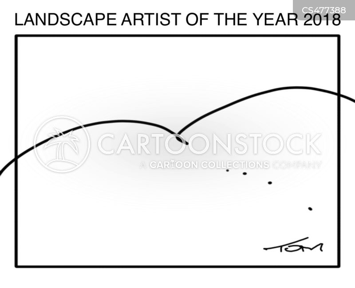 landscape artist cartoon