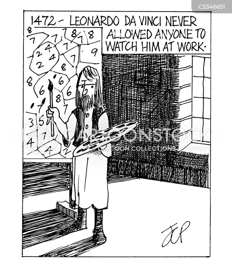 painting by numbers cartoon