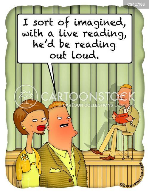 book reading cartoon