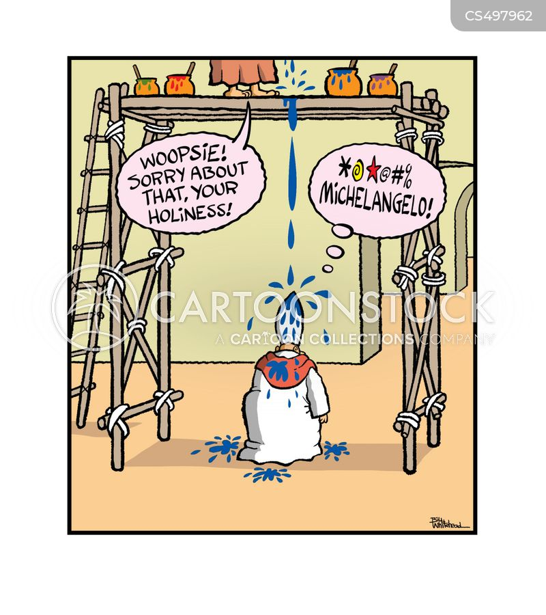 religious art cartoon