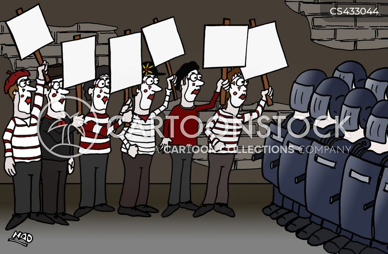 protest movements cartoon