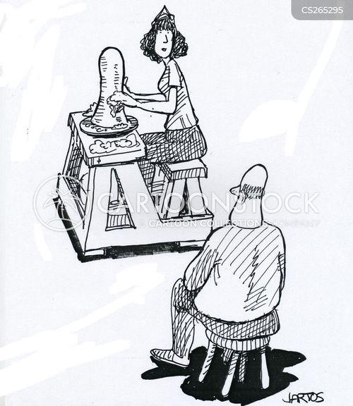 pottery wheel cartoon
