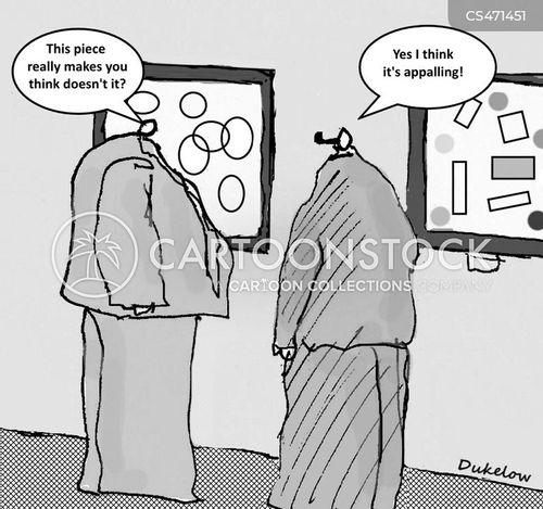 contemporary artists cartoon