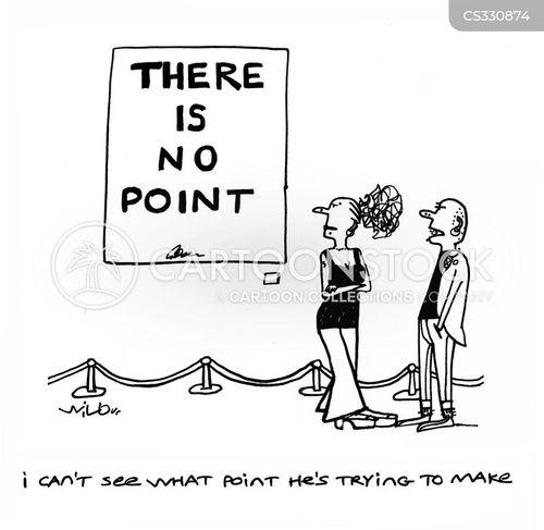 making a point cartoon