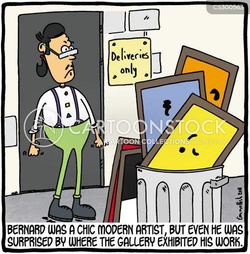contemporary artist cartoon