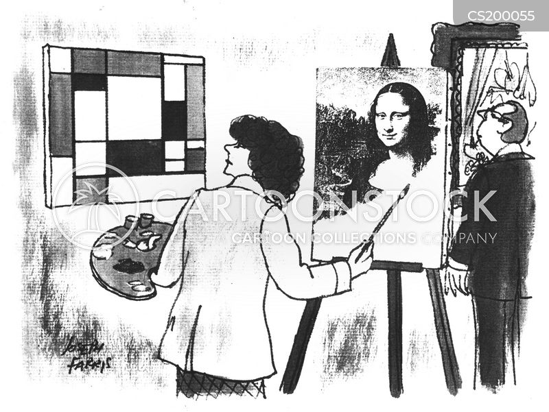 portrait painting cartoon