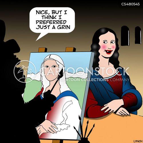 enigmatic smile cartoon