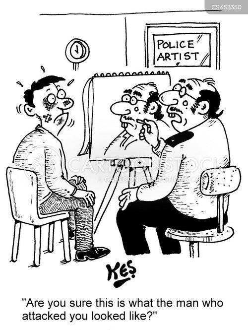 police artist cartoon