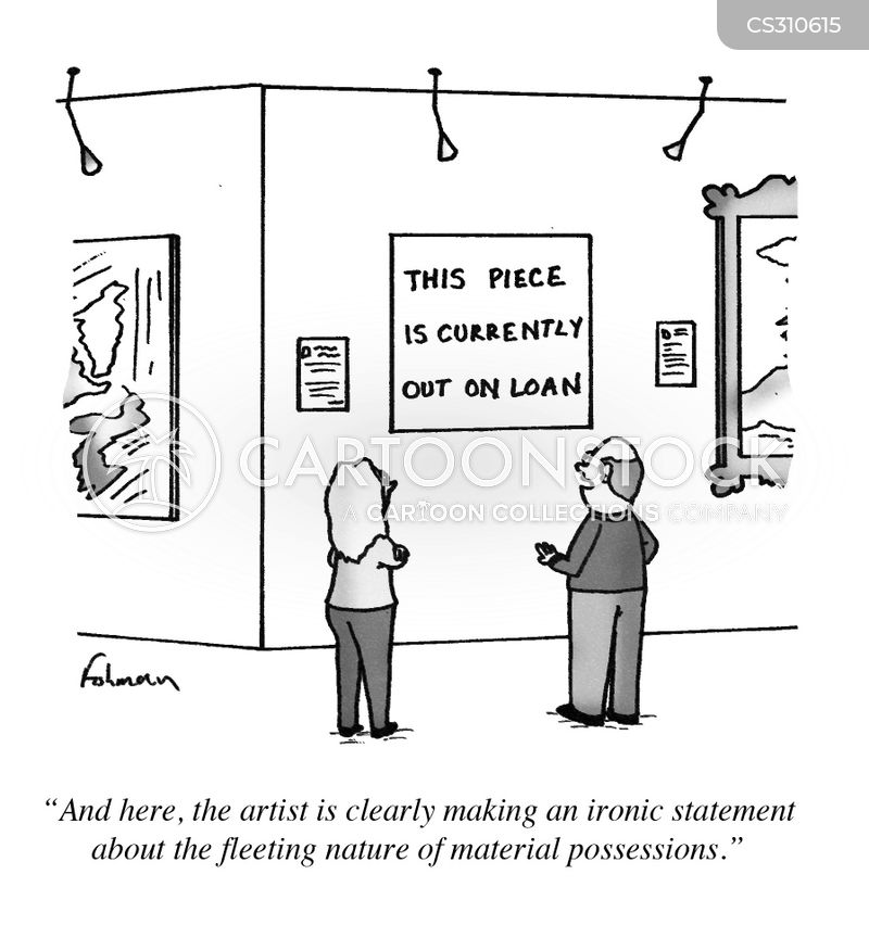 art criticism cartoon