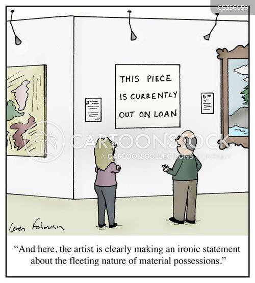 artist statements cartoon