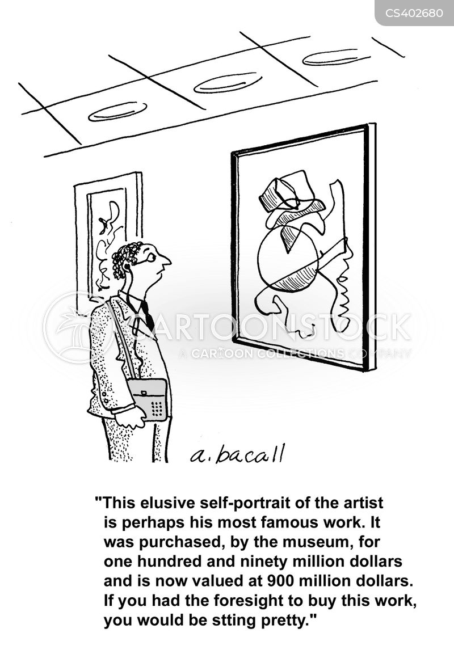 art collection cartoon