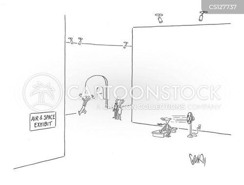 air and space cartoon