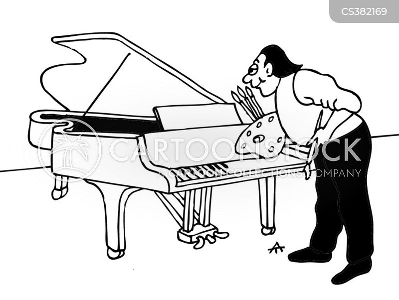 piano key cartoon