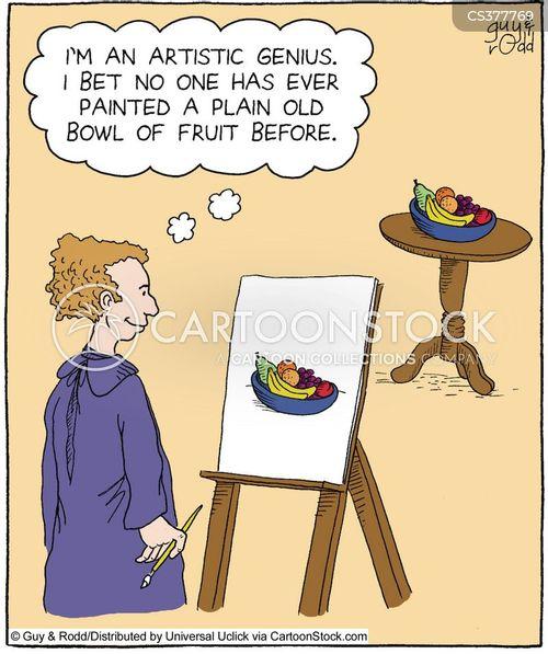 portrait paintings cartoon