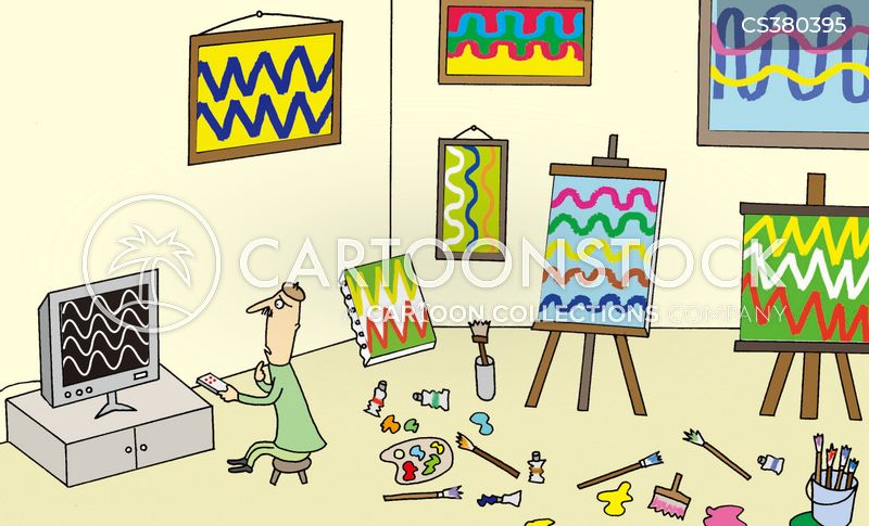 abstract painting cartoon