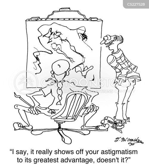 astigmatisms cartoon