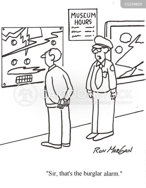 burglar alarm cartoon