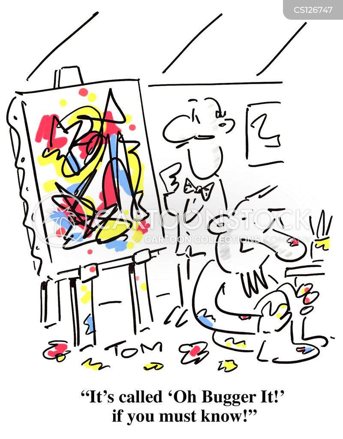 easel cartoon