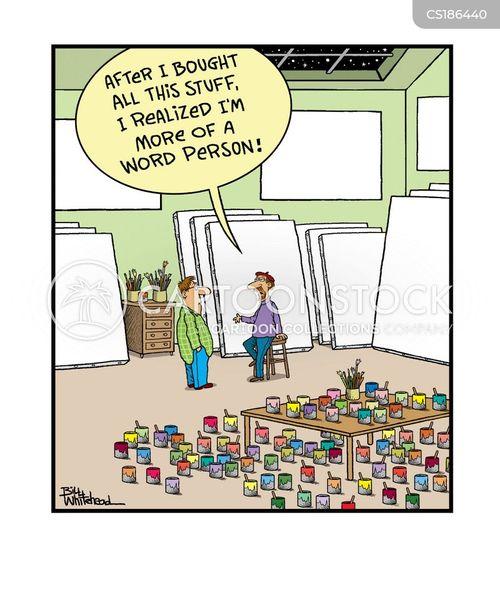 art supplies cartoon