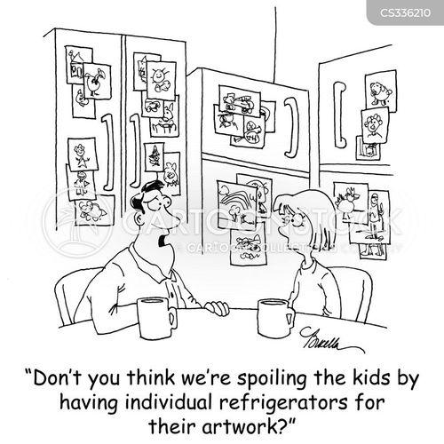 refrigerator art cartoon