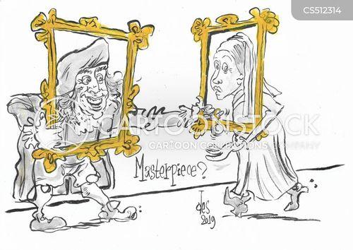 johannes vermeer cartoon