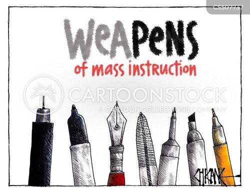 mass destruction cartoon