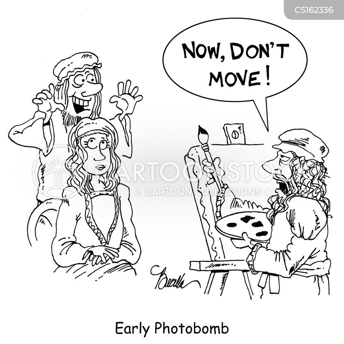 photo bomb cartoon