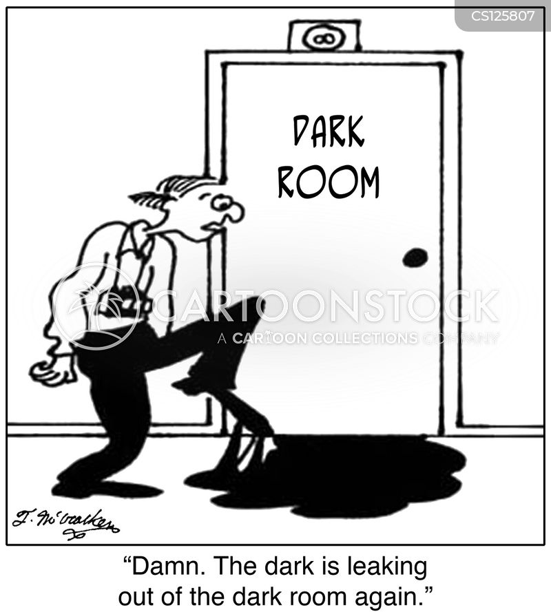 dark rooms cartoon