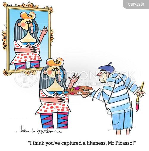 cubism cartoon