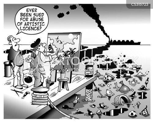 artistic licence cartoon