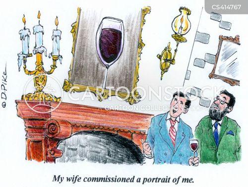 wine glasses cartoon