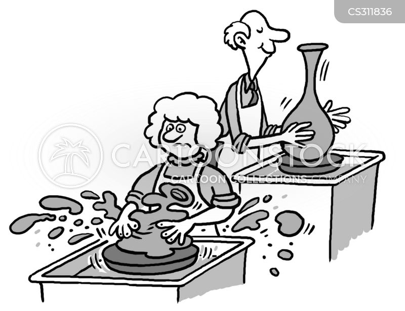 Pottery cartoons, Pottery cartoon, funny, Pottery picture, Pottery pictures, Pottery image, Pottery images, Pottery illustration, Pottery illustrations