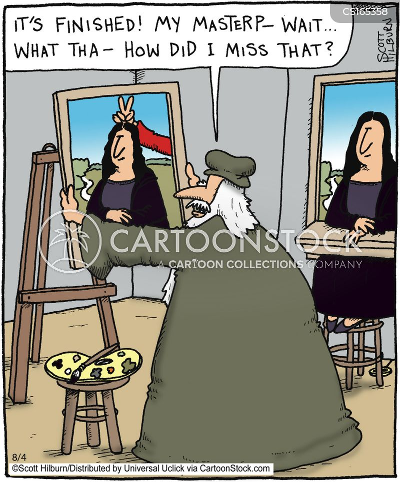 famous artwork cartoon