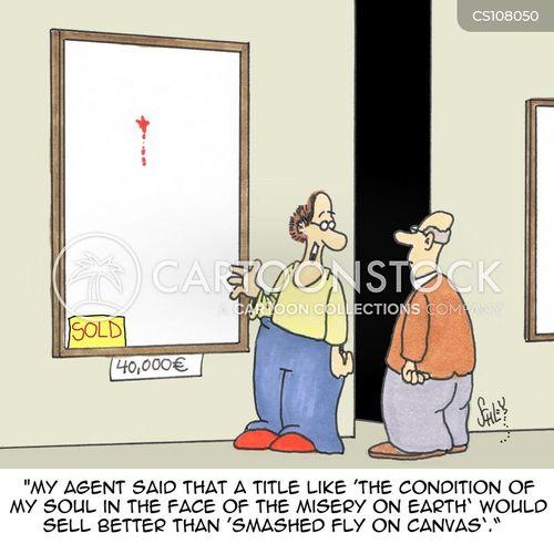 art agent cartoon