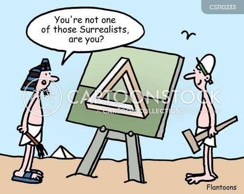 pyramid builders cartoon
