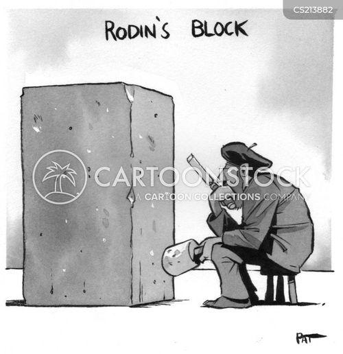 artistic block cartoon