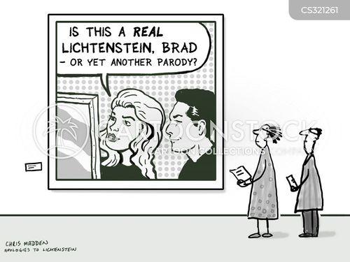 roy lichtenstein cartoon