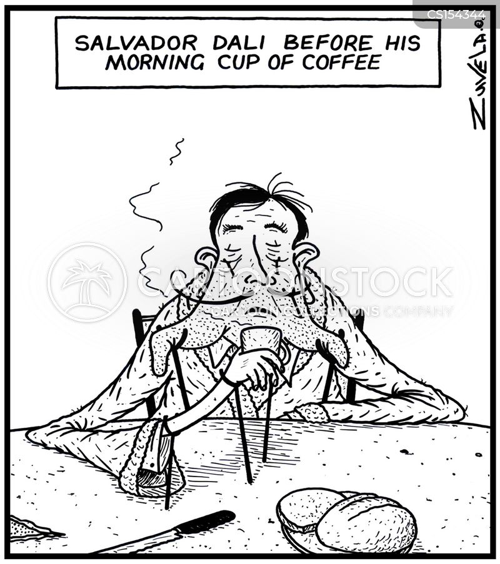 salvador dali cartoon