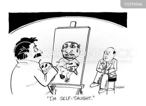 self taught cartoon