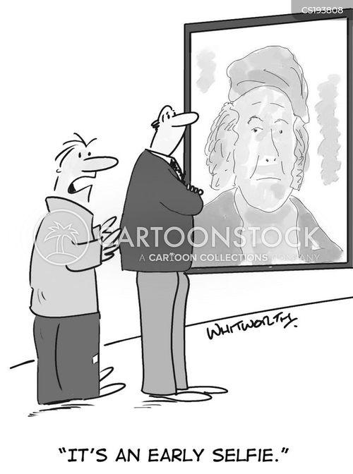 history of art cartoon