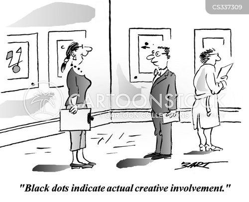 black dots cartoon