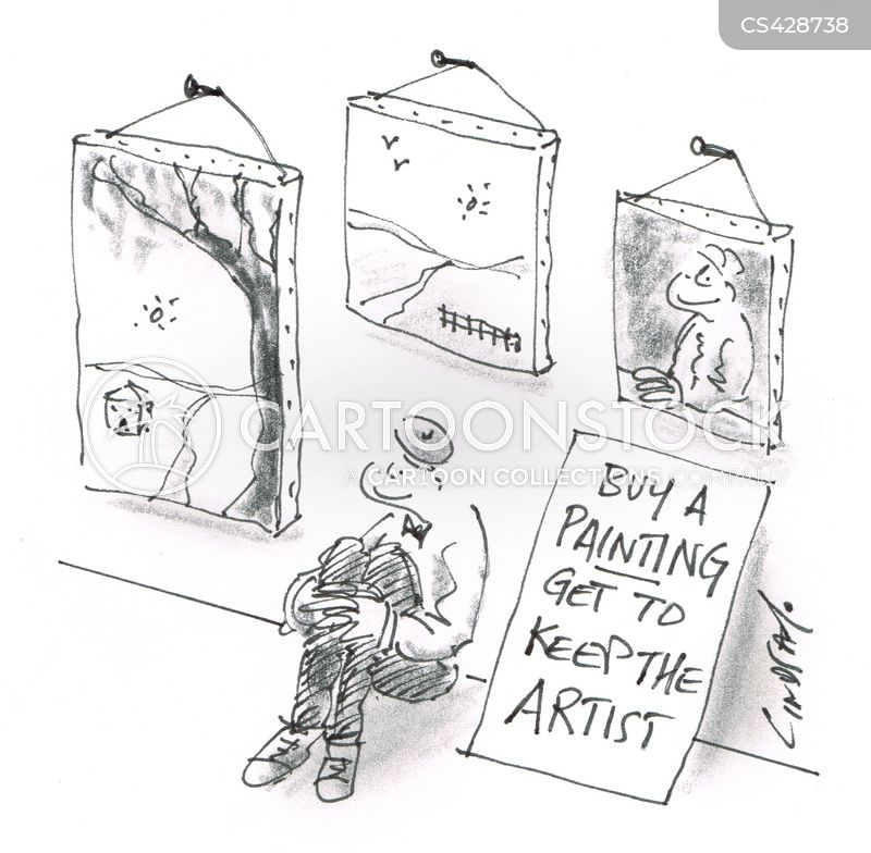 starving artists cartoon
