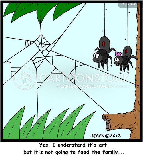 web spinner cartoon