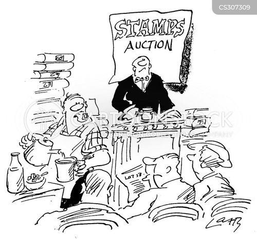 auction house cartoon