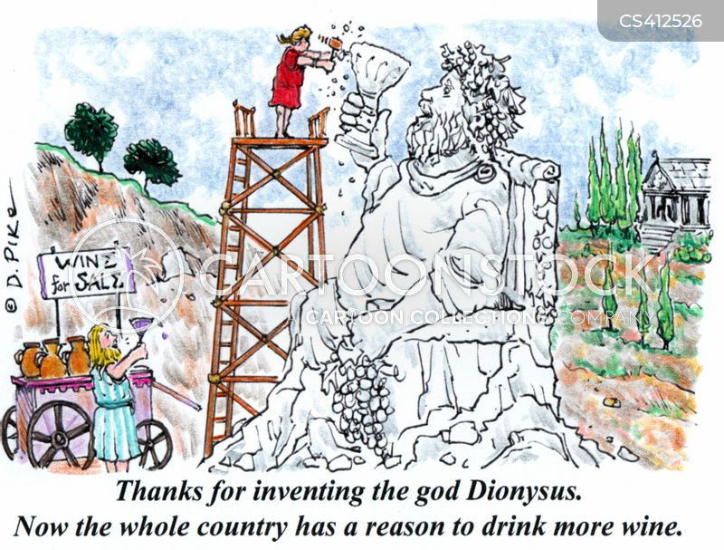 dionysus cartoon