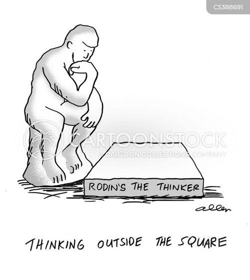 thinking man cartoon