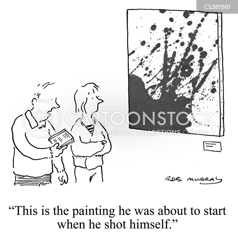 abstract expressionism cartoon