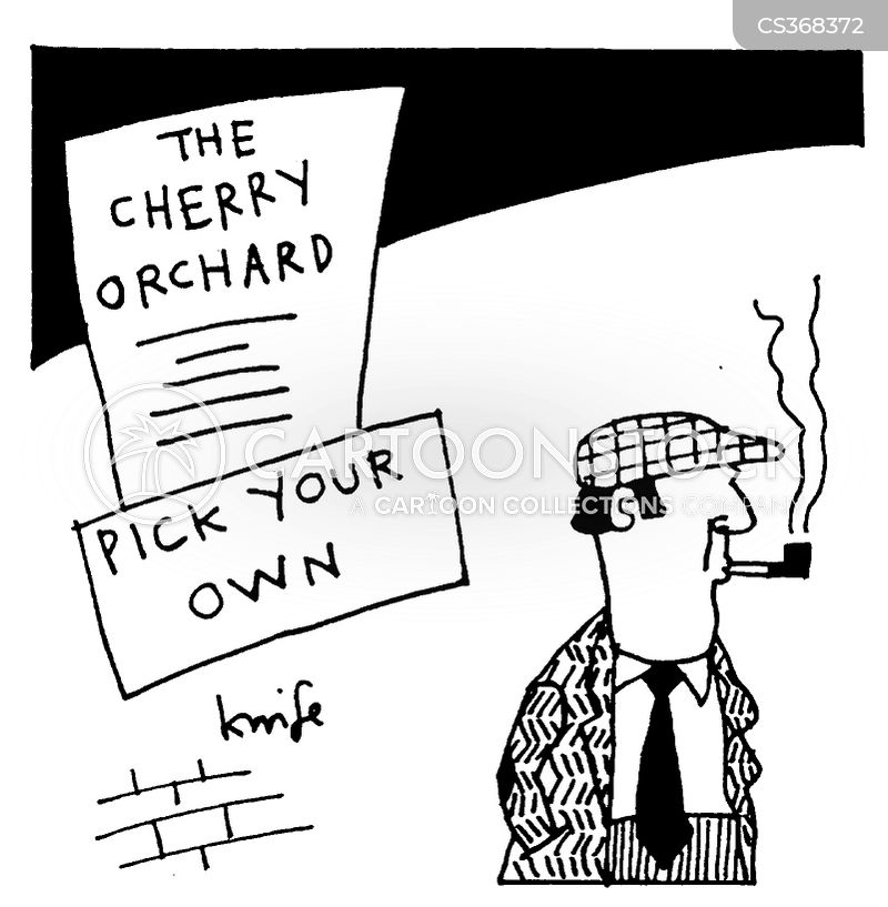 the cherry orchard cartoon